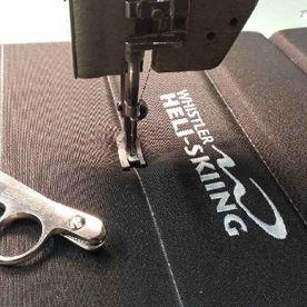 Sewing trim on upholstery for aircraft