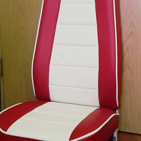 Red upholstery panels
