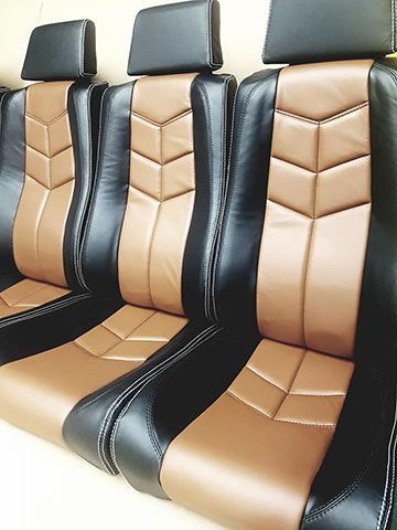 custom leather seat